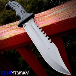 """13"""" BLACK TACTICAL SURVIVAL Rambo Hunting FIXED BLADE KNIFE"""