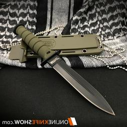 """6"""" TACTICAL COMBAT SURVIVAL Army Spear HUNTING KNIFE Bowie M"""